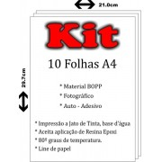 KIT VINIL ADESIVO A4 - BRANCO (10 Folhas)