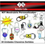 Kit MOSTRUÁRIO PERSONALIZADO (30 CHAVEIROS)