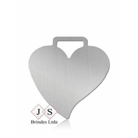Chapinha C10 coração para couro (100 pçs)