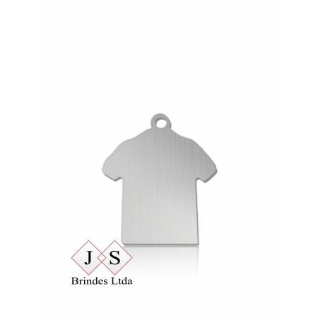 Chapinha P12 - pingente camisa para corrente- (100 peças)