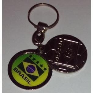 CHAVEIRO BRASIL BOLA PERSONALIZADA (100 UNIDADES)