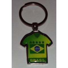 CHAVEIRO BRASIL CAMISA PERSONALIZADA VERDE E AMARELA (100 Pçs)