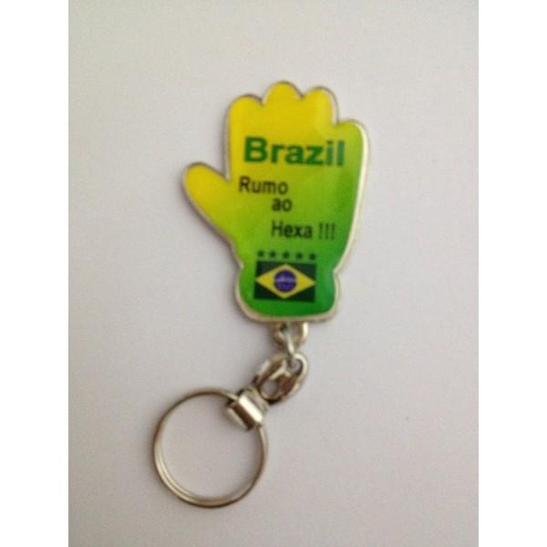 CHAVEIRO LUVA PERSONALIZADA TEMA BRASIL (100 Pçs)