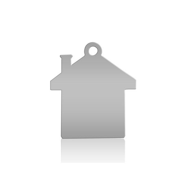 Chapinha para Chaveiro formato de casa (100 Pçs )