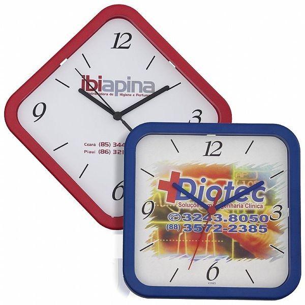 Kit de Relógio de Parede Quadrado 22 cm (5 Peças)