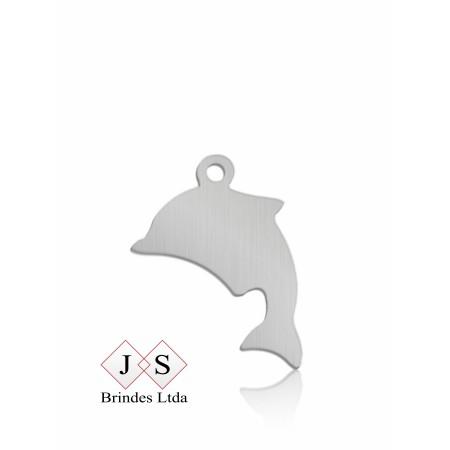 Chapinha P03- pingente golfinho para corrente (100 pcs)