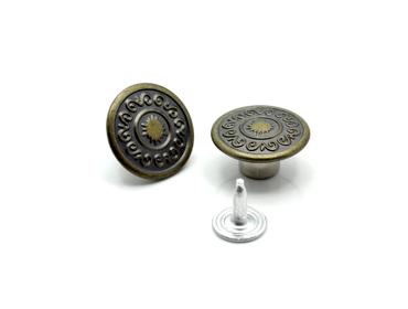 Botões para roupas de metal