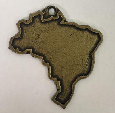 PINGENTE MAPA (50 UNIDADES)