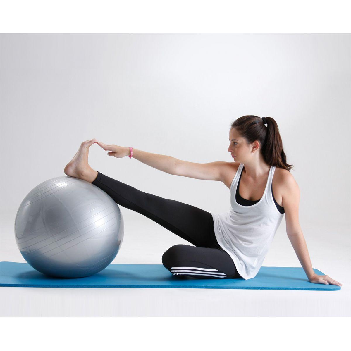 Bola suíça para pilates 65cm Gynastic Ball - cinza - BL.01.65