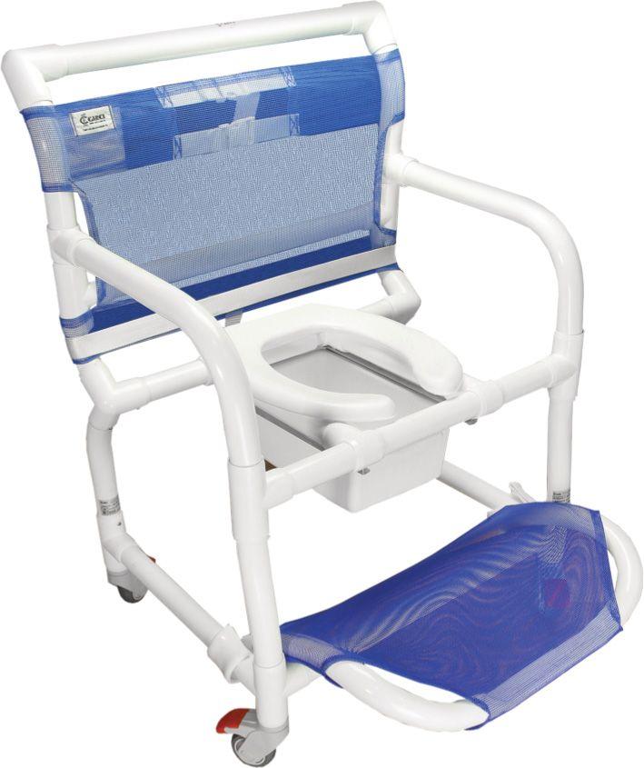 Cadeira de banho e higiênica em PVC para obesos  - 300CLO