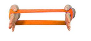 Carci Loop 30 x 10 cm Laranja - Resistência Extra Forte - Ref. LC.01.534