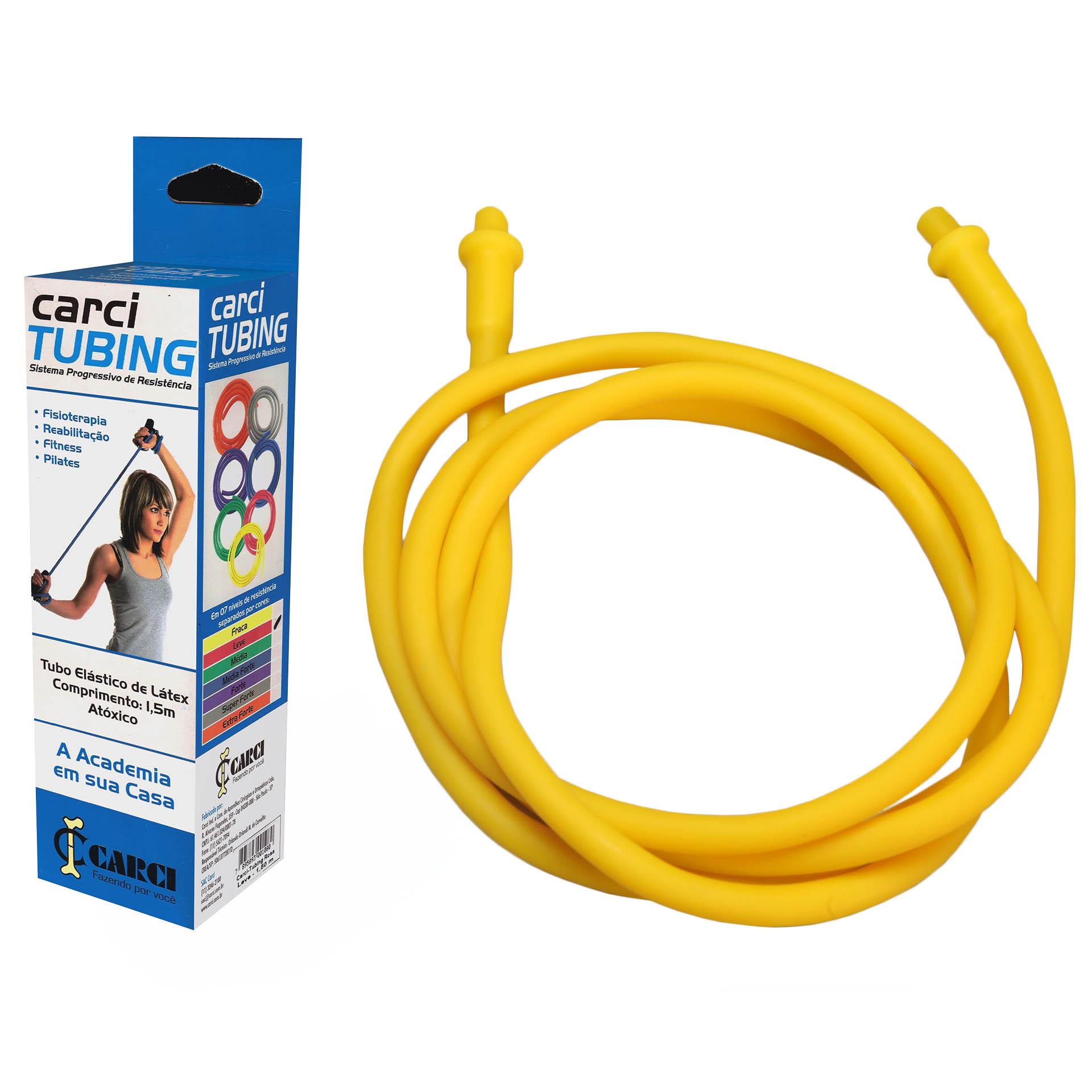Carci Tubing - Tubo elástico para exercícios resistência fraca amarelo - RT.01.5010