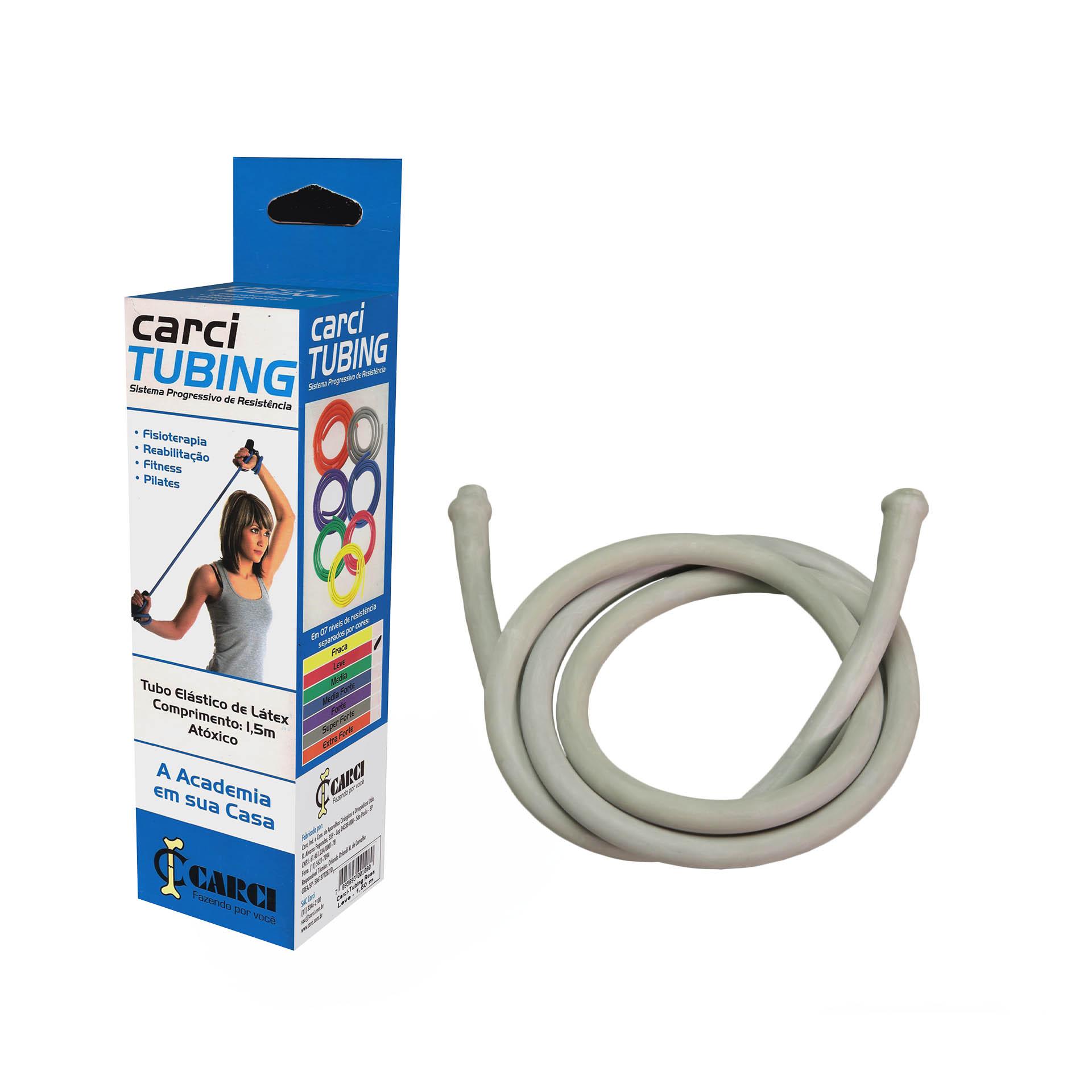 Carci Tubing - Tubo elástico para exercícios resistência super forte prata - RT.01.5050