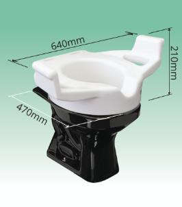 Elevador de assento sanitário com alças - SIT III