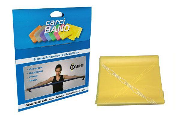 Carci Band  (nº1) - Faixa elástica para exercícios (amarela / fraca) - RB.01.452