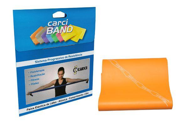 Carci Band (nº7) - Faixa elástica para exercícios (laranja / extra forte) - RB.01.5007