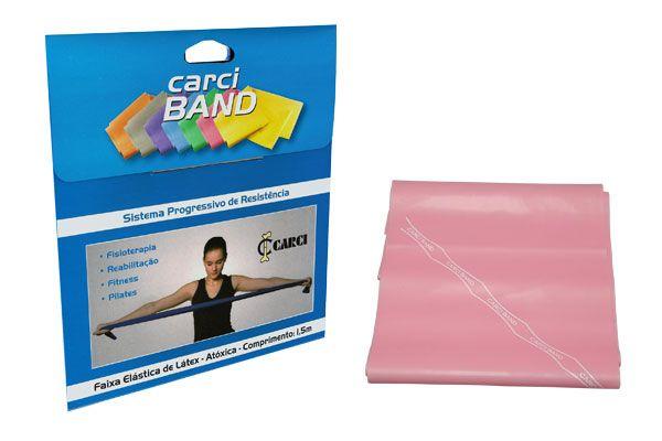 Carci Band (nº2 ) - Faixa elástica para exercícios (rosa / leve) - RB.01.50017