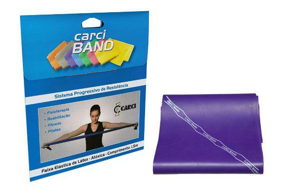 Carci Band (nº5) - Faixa elástica para exercícios (roxa / forte) - RB.01.487