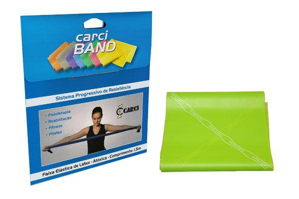 Carci Band (nº3) - Faixa elástica para exercícios  (verde / média) - RB.01.475