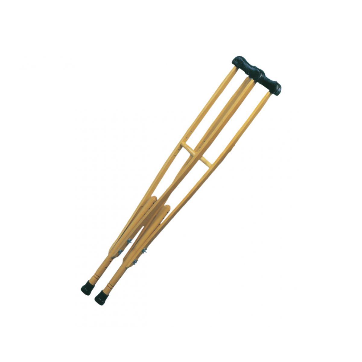 Muleta axilar em madeira grande - 072