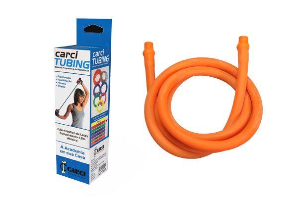 Carci Tubing - Tubo elástico para exercícios resistência extra forte laranja - RT.01.5070