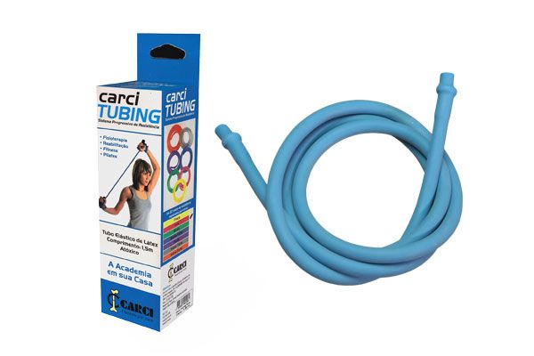 Carci Tubing - Tubo elástico para exercícios resistência média-forte azul - RT.01.5040