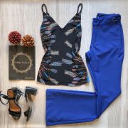 Calça Flare Azul Royal