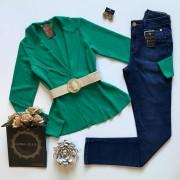 Casaco Corte a Fio Verde