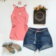 Short Jeans com Cordão