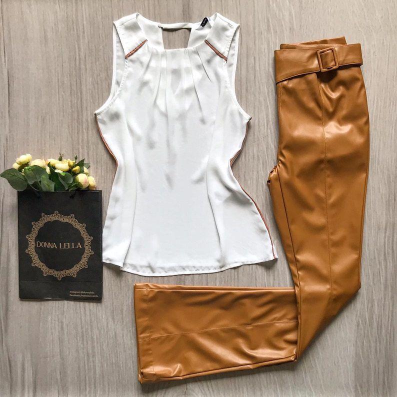 Blusa Crepe Detalhe Friso