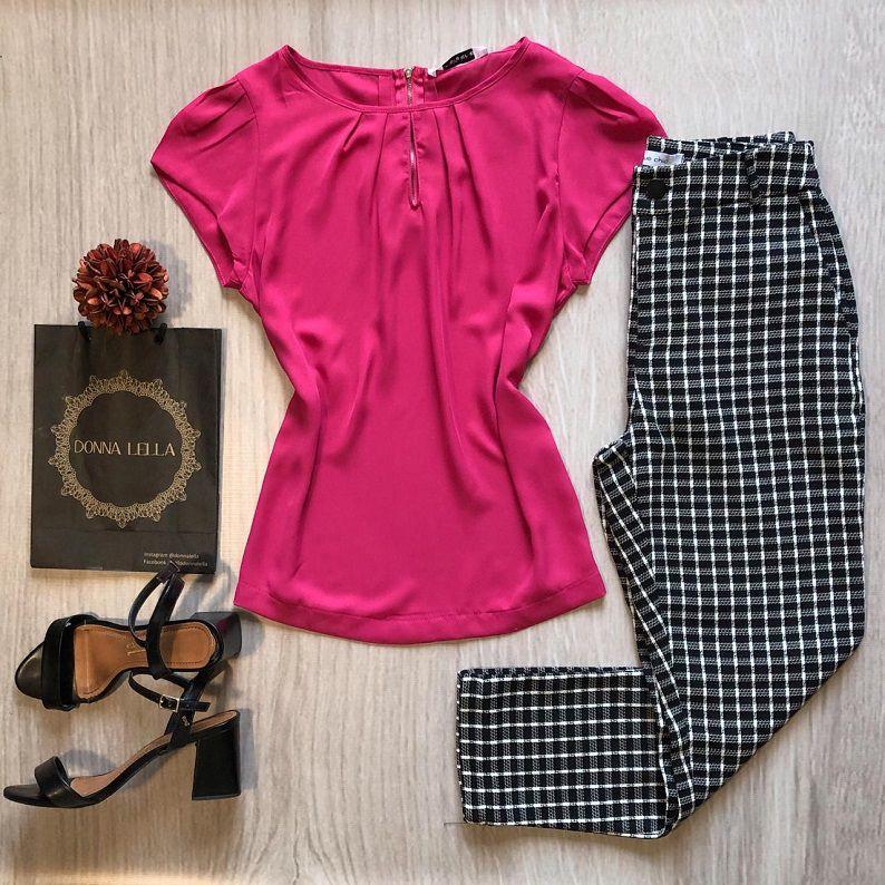 Blusa Crepe Gota Pink