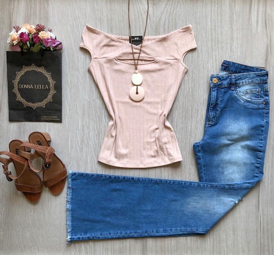 Blusa Decote Ombro