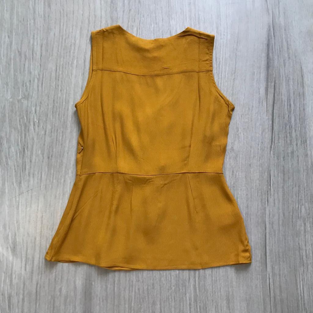 Blusa Envelope Mostarda