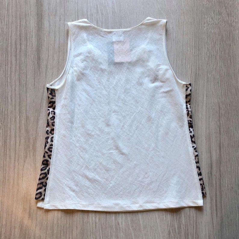 Blusa Faixa Lateral Animal Print Branca