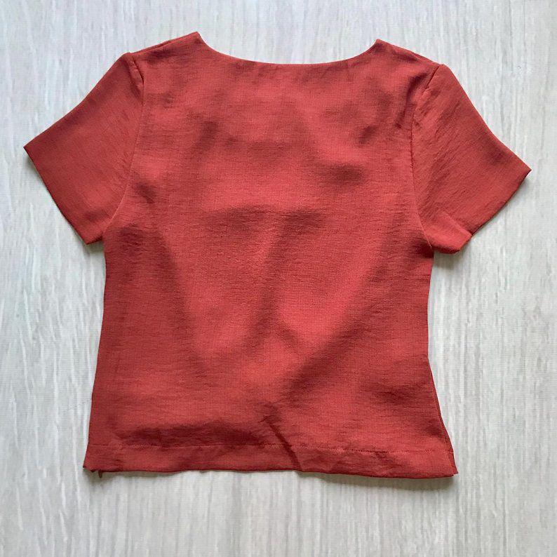 Blusa Ferrugem Detalhe Barra