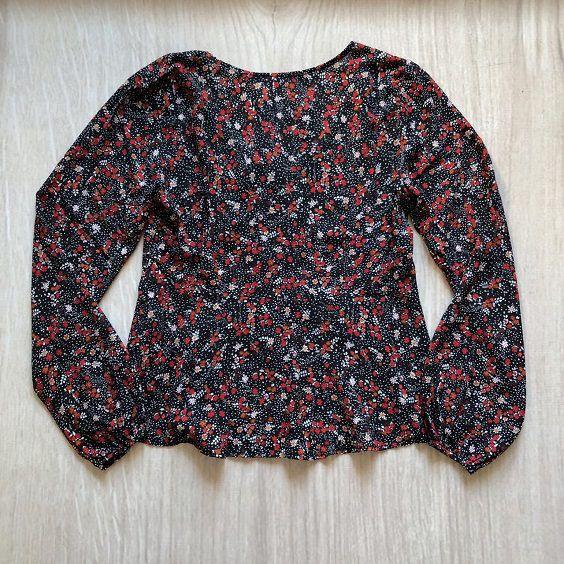 Blusa Floral Preta