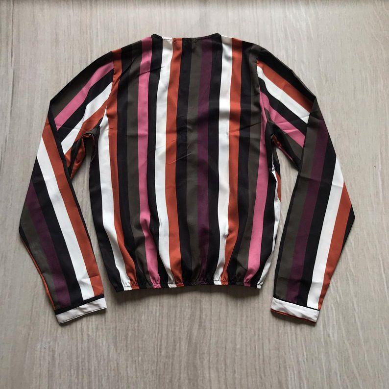 Blusa Listrada Transpassada