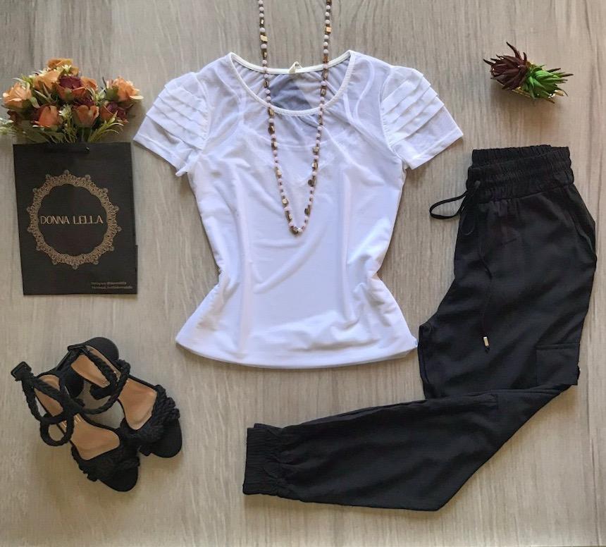 Blusa Tule Branca