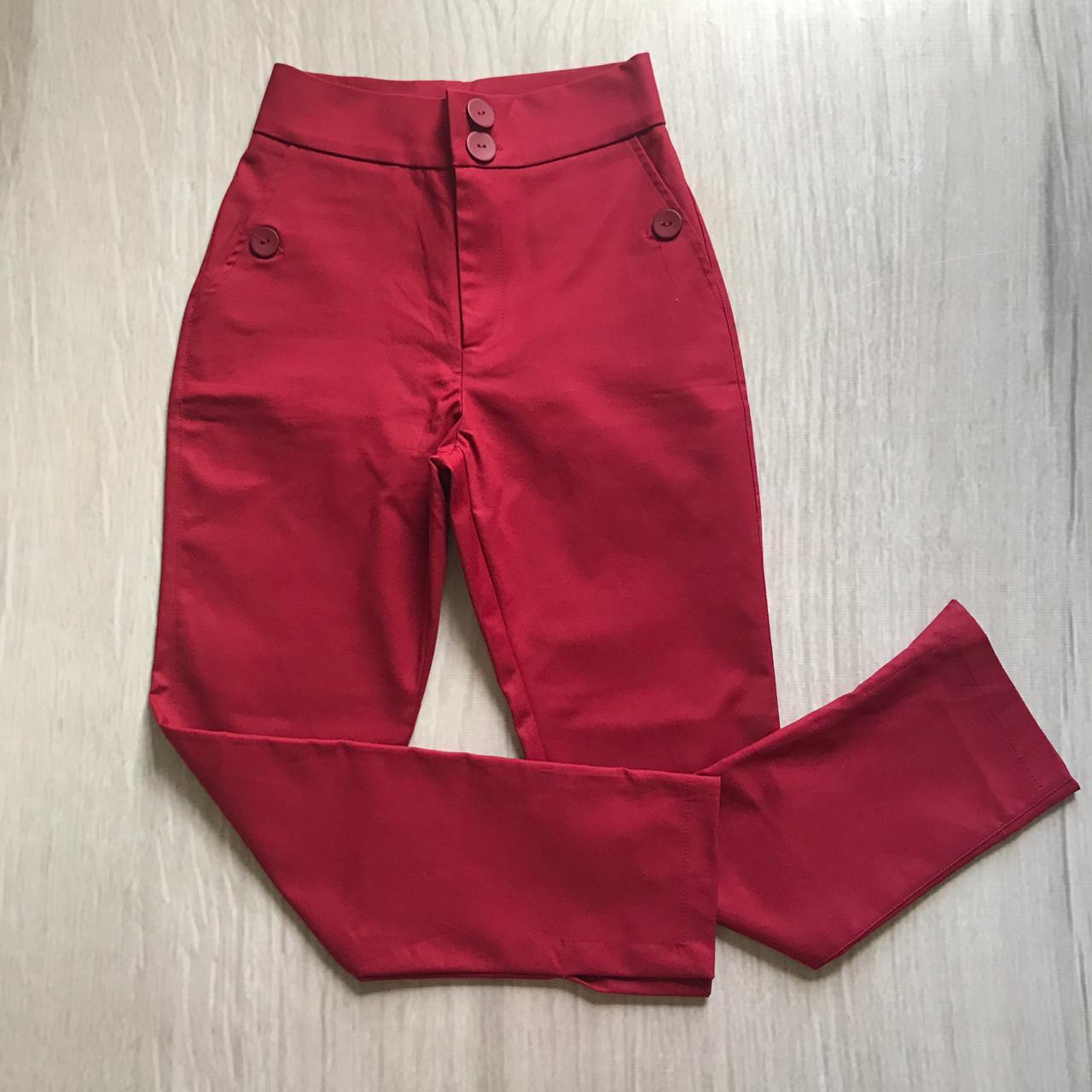 Calça Alfaiataria Vermelho Queimado