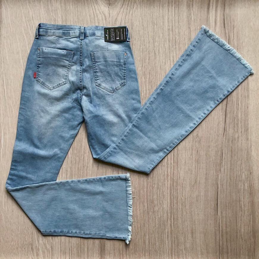 Calça Jeans Alta Flare