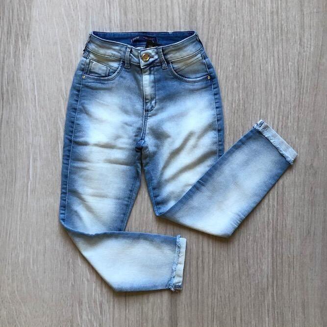 Calça Jeans Cigarrete Comfort