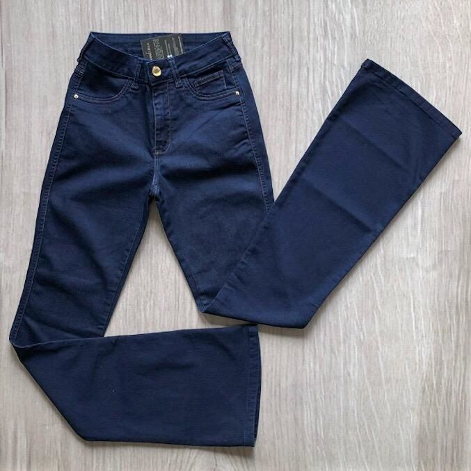 Calça Jeans Flare Escura