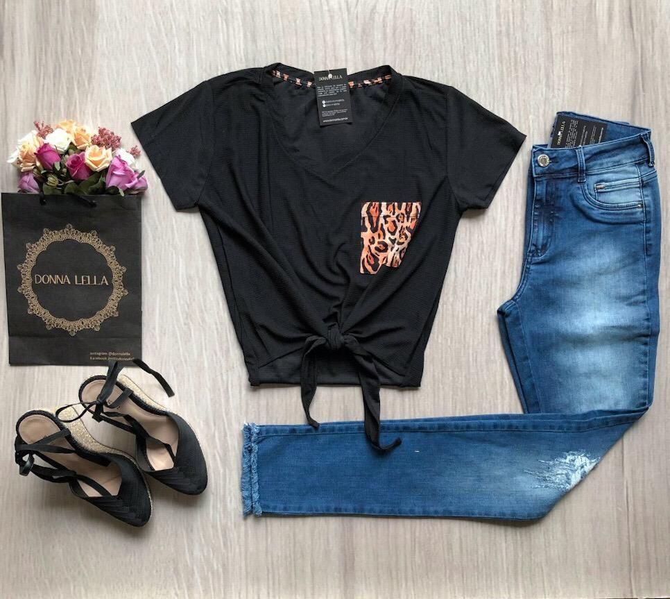 Calça Jeans Skinny Barra Desfiada