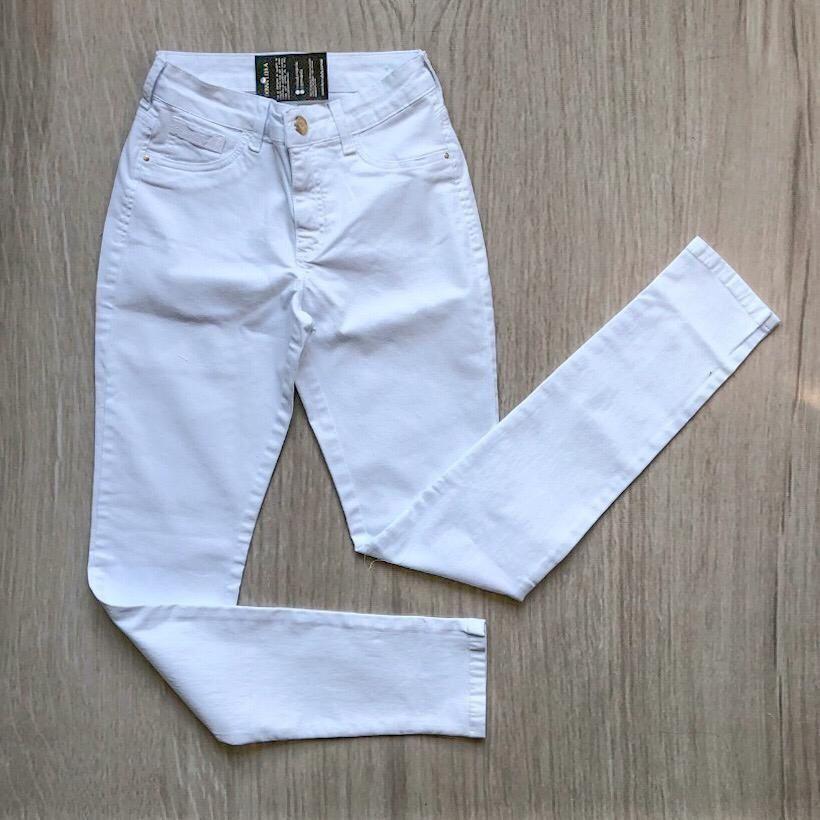 Calça Sarja Skinny Branca