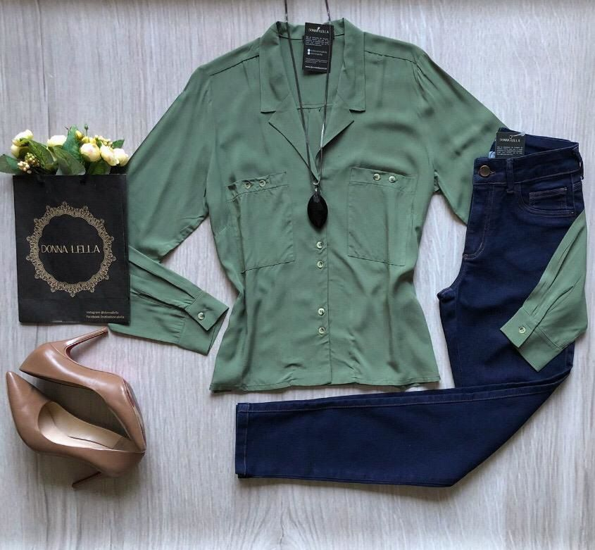 Camisa Verde Militar