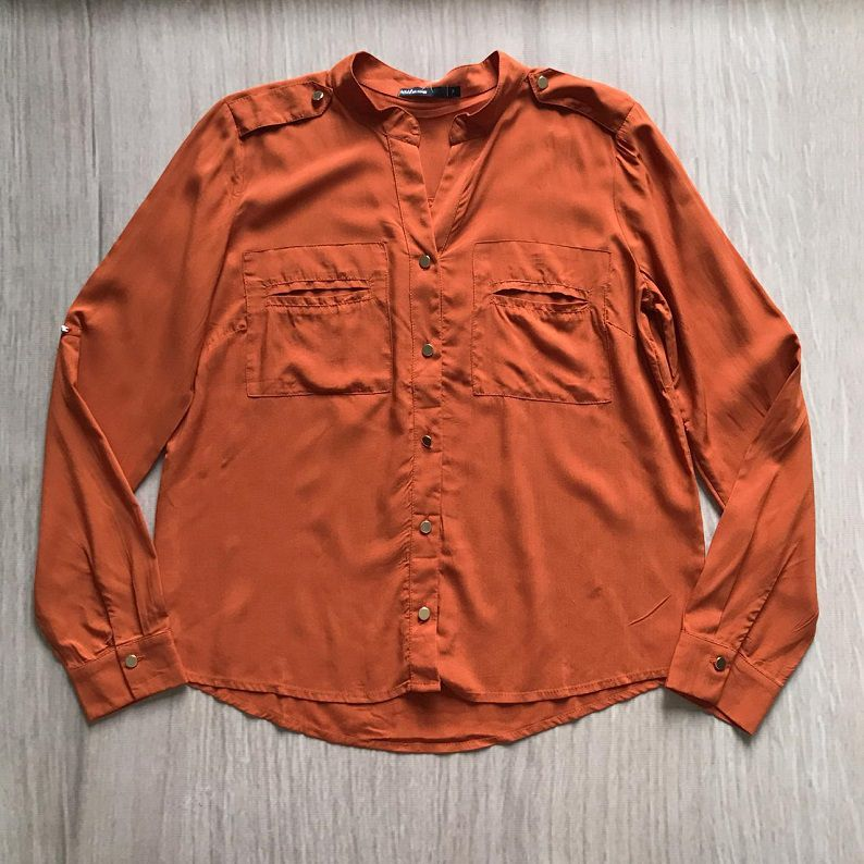 Camisa Viscose Terracota