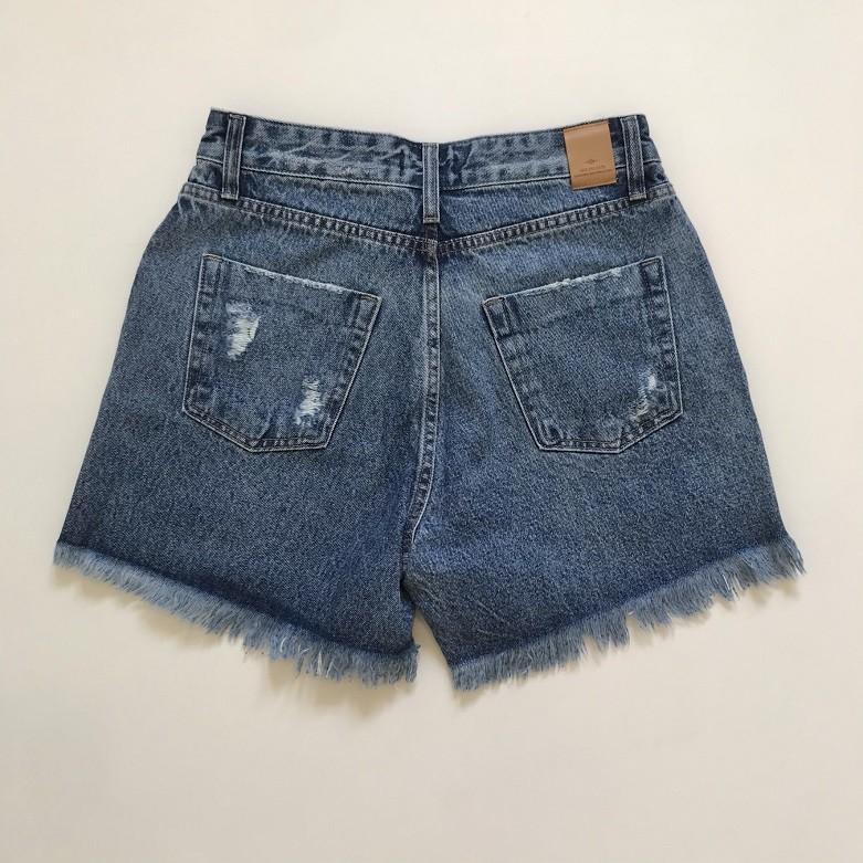 Short Mom Jeans Rasgado