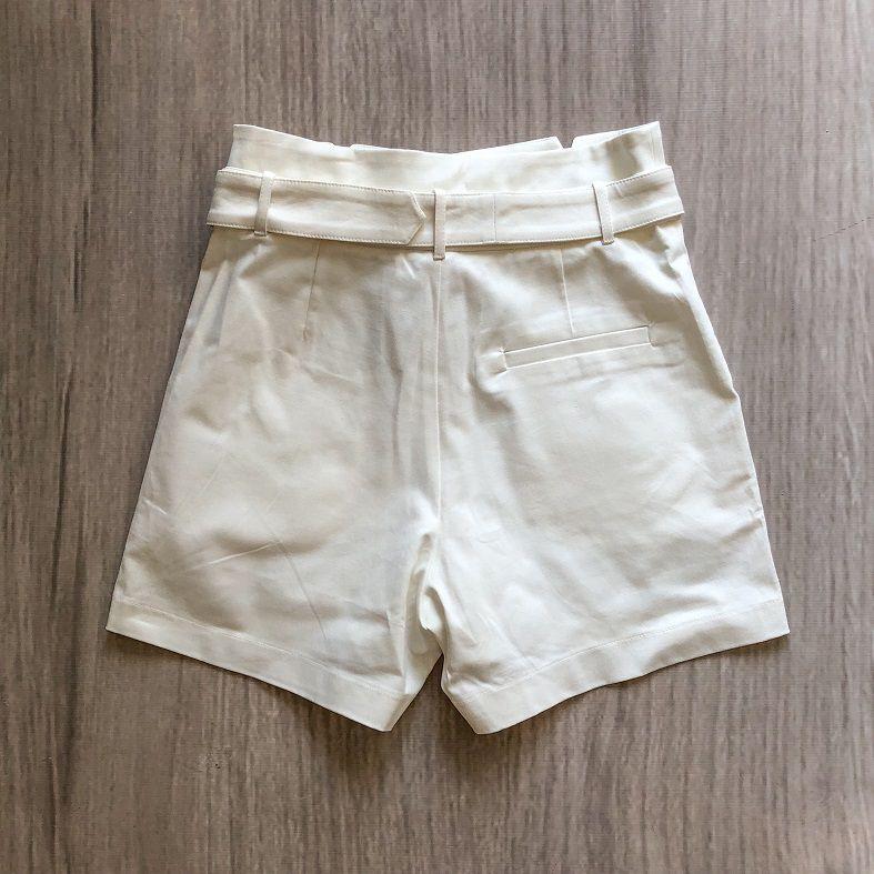 Shorts Alfaiataria Fivela Forrada