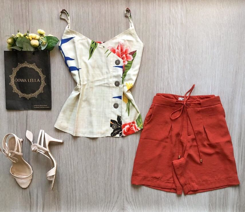 Shorts Crepe Terracota