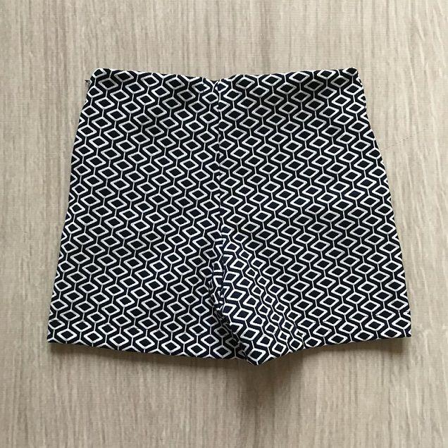 Shorts Estampado Marinho